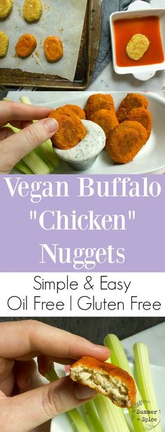 """Vegan Buffalo """"Chicken"""" Nuggets You'll Die For 
