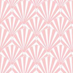 Shell Pink fabric by magentarosedesigns #artdeco #shell #beach #summer  on Spoonflower - custom fabric