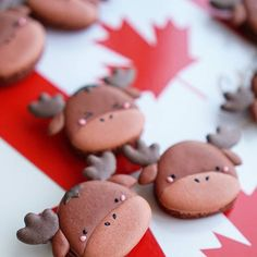 """Happy Canada Day!!!🇨🇦🍻 Canada moose macarons filled with salted caramel mousse (the Live-in Game Consultant's idea…just so he can repeatedly say """"mousse moose"""" - he's quite proud of it actually, so please don't forget to compliment him…🤣) . . In honour of Canada Day, I would like to tell you all about a super awesome Canadian culinary organization - Bocuse d'Or' Canada! I had the privilege (as @wakeupeatthis's lucky plus one) of spending a fun-filled afternoon learning how to put…"""