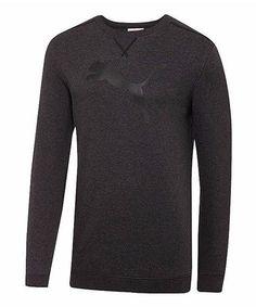 Loving this Dark Gray Heather Crew Neck French Terry Sweatshirt on #zulily! #zulilyfinds