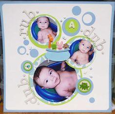 Bath time- love the circular layout