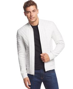 Inc International Concepts Galaxy Quilted Jacket, Only at Macy's
