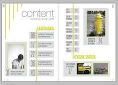 table of contents design에 대한 이미지 검색결과