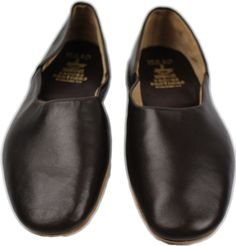 BROOKS BROTHERS PEAL AND CO. BROWN LEATHER SLIPPERS-9D US-MADE IN ENGLAND #BROOKSBROTHERSPEALANDCO #SLIPPER