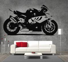 BMW S 1000RR Moto GP Racing Motor Bike Large Vinyl Sticker Wall Art