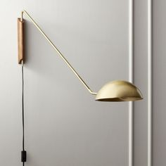Newest Snap Shots Wall Sconces bedroom Strategies Generally, if you have boring, bare wall space, the initial considered will be to liven it plan artwork, decor. Black Wall Sconce, Modern Wall Sconces, Plug In Wall Sconce, Brass Sconce, Modern Wall Lights, Brass Lamp, Globe Pendant Light, Luminaire Design, Gold Walls