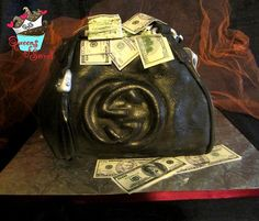 Gucci bag filled with money Cake!