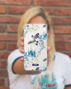 "Funda móvil silicona transparente ""Bluberry blue"" 