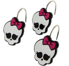 Monster High Shower Curtain Hooks Bathroom Decor New