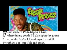 The Fresh Prince of Bel Air: THE SONNET (Pop Sonnets) - YouTube
