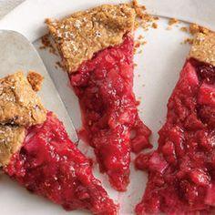 Rhubarb And Raspberry Crostata. More