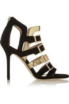 a04efc9cdf37 Jimmy Choo - Bronx suede and metallic leather sandals