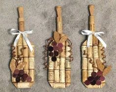 Items similar to wine bottle wall hanging made from recycled corks on Etsy Weinflaschen-Wandbehang aus recycelten Korken Wine Bottle Wall, Wine Bottle Corks, Bottle Art, Wine Wall, Wine Craft, Wine Cork Crafts, Wine Bottle Crafts, Diy Cork, Wine Theme Kitchen