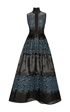 Tree Petal Thread Embroidered Gown by Elie Saab for Preorder on Moda Operandi