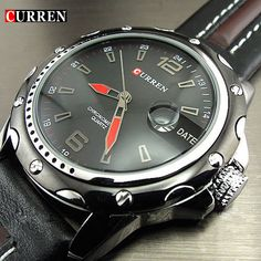 NEW FASHION CURREN BRAND MALE CLOCK MALE HAND DATE BLACK BROWN LEATHER STRAPS MENS QUARTZ WRIST WATCH 3ATM WATERPROOF WRISTWATCH-in Quartz Watches from Watches on Aliexpress.com | Alibaba Group