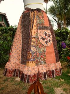 Autumn Harvest Patchwork Skirt                                                                                                                                                                                 More