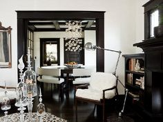 greige: interior design ideas and inspiration for the transitional home : Dark Details..