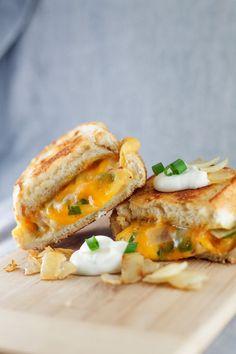 Eat it - Perogy Grilled Cheese | bsinthekitchen.com #grilledcheese #perogy #bsinthekitchen