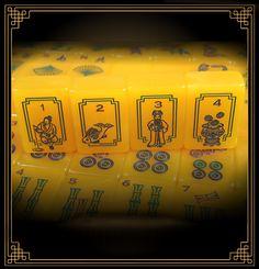 Red Coin Mah Jong Ninth Edition Dragon Set tiles