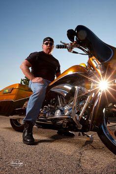 Motorcycle Portrait Ideas for Men