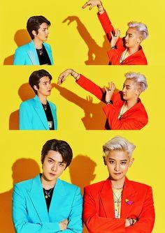 "Sehun & Chanyeol - SC ""What a life"" Teaser Luhan And Kris, Bts And Exo, Baekhyun Chanyeol, Park Chanyeol, Teaser, Exo Album, Exo Official, Exo Couple, Exo Lockscreen"