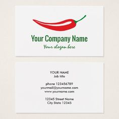 Home style italian cooking business card design by anne vis chef red chili pepper company logo template business card colourmoves