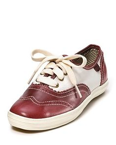 """Keds """"Champion"""" Spectator Sneakers will carry you from summer right into fall. Also available in black."""