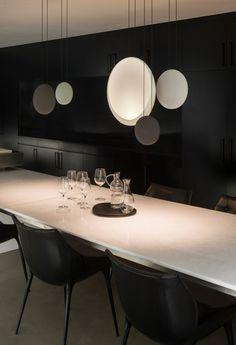 Lampada a sospensione a LED in policarbonato COSMOS by Vibia   design Lievore Altherr Molina