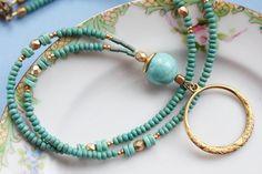 Cordon turquoise cordon de lunettes lunettes boucle par Maetri
