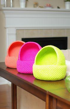 ...Handy Crafter...: Custom made crochet baskets