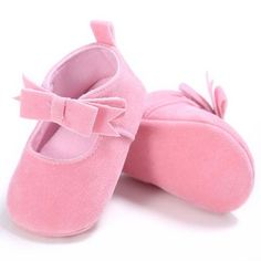 Raise Young Flock Spring Autumn Baby Girl First Walkers Butterfly-knot Infant Girl Princess Shoes Newborn Toddler Footwear 0-18M