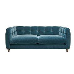 button back velvet sofa from loaf