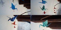 DIY: Como hacer un móvil con grullas de origami
