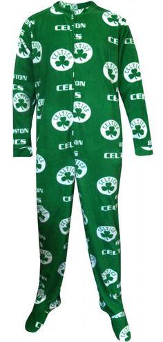 WebUndies.com Boston Celtics Guys One Piece Footie Pajama