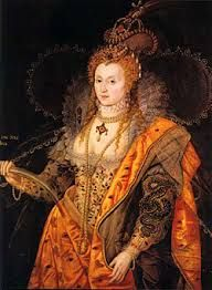 Isaac Oliver aka Olivier of French Huguenot Descent Queen Elizabeth I, The Rainbow Portrait, 1600 Painting