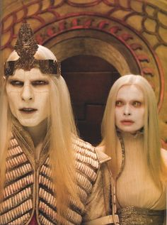 Prince Nuada and Princess Nuala Silverlance (Hellboy II: The Golden Army) Warrior Princess Costume, Hellboy Movie, Golden Army, Recurring Nightmares, Creatures Of The Night, Special Effects Makeup, Fx Makeup, Raining Men, Animation