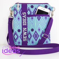 The Easy and Pretty Cross-body bag can be sewn by confident beginner sewers. There are three pockets to keep your belongings organized. Exterior slip pocket for phone, keys or glasses for easy access, and two more slip pockets inside...