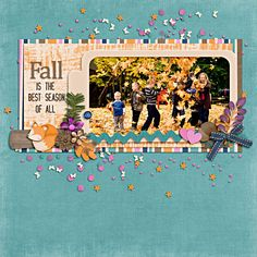 Cozy On Up #fall #leaves #family #digitalscrapbook