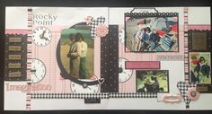 Rocky Point, two page layout, Love, clocks