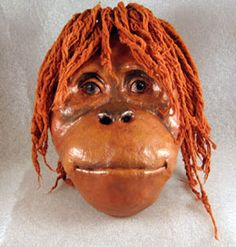 Paper Mache Orangutan Mask - this is an amazing process for the older age group. I think it would be a project they'd really be proud of!