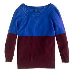 Dream Colorblock Sweater @J.Crew World