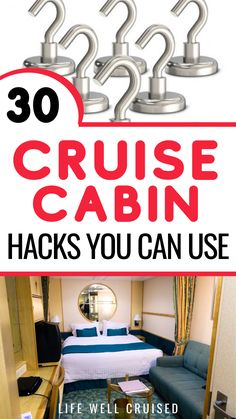 These cruise cabin hacks are awesome to organize your stateroom, without a lot of pricey accessories and things you need to bring from home. If you're planning a cruise, you'll love these cruise hacks and tips #cruise #cruisehacks #travelhacks #cruisetips Packing List For Cruise, Cruise Tips, Cruise Travel, Cruise Vacation, Disney Cruise, Cruise Excursions, Cruise Destinations, Family Friendly Cruises, Carnival Cruise Ships