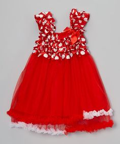 Love this Red Ruffle Tulle Dress - Toddler & Girls by Tutus by Tutu AND Lulu on #zulily! #zulilyfinds $16.99, regular 60.00