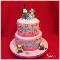 Agnes & Minions Cake. Despicable Me.