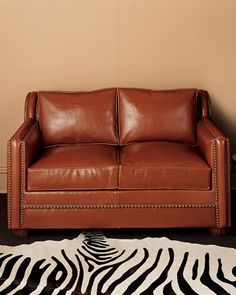 Leather Sleeper Group by Old Hickory Tannery at Horchow.