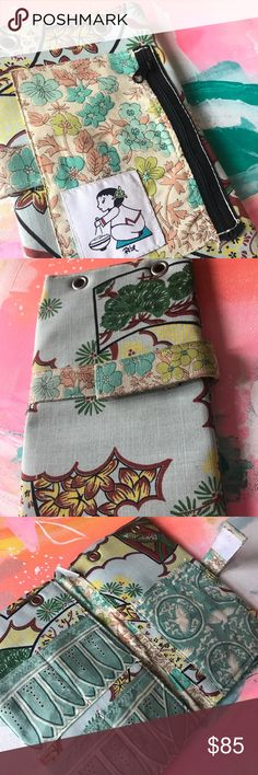 Rebe handmade wallet/passport holder This is a one of a kind piece made by Rebe, a California designer. It is handmade with so many beautiful details including pockets made of silk. Please ask questions as this piece is so lovingly constructed. Super great condition. Rebe Bags Wallets