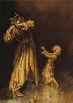 """liquidnight: """" Arthur Rackham - from The Golden Touch """""""