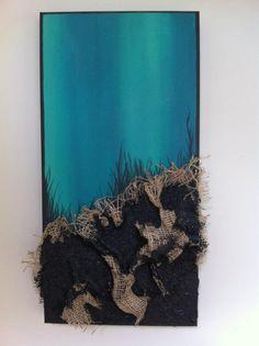 untitled  painting, acrylic, mixed media