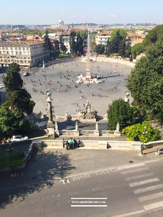The view of Piazza del Popolo from Pincio  #Pincio #piazzadelpopolo #Rome #travel #visitrome  #photography www.aladyinrome
