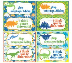 Printable Dinosaur Valentine Treat Bag by WhimsicalPrintables, $3.00